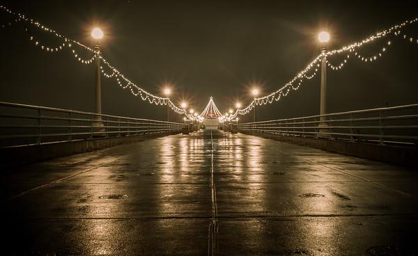 Manhattan Beach Pier Anniversary with Christmas Lights