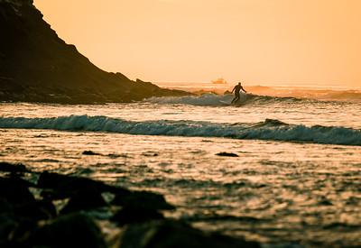 December Sunset Surfer