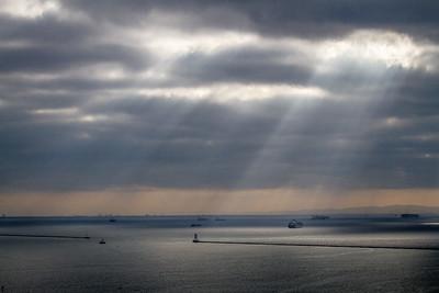 Los Angeles Harbor-Sunbeams