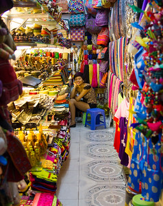 Tiny, colorful, Hanoi shop