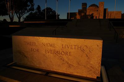 Sunset on the War Memorial