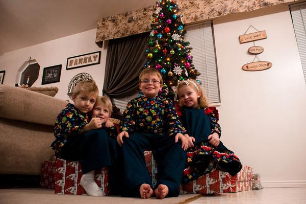 Grandkids Christmas Jammies - 2011