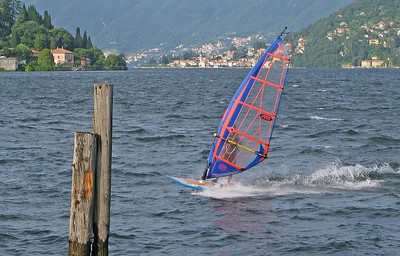 IMG_5615 Windsurfer at Cernobbio on Lake Como SM