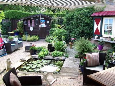 The back garden at Caroline's parent's house.