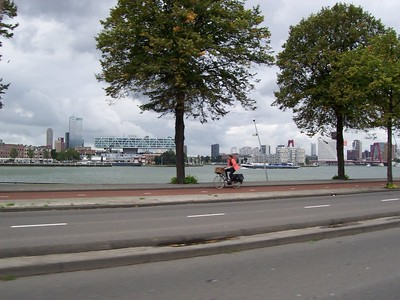 Across the ship channel in Rotterdam.
