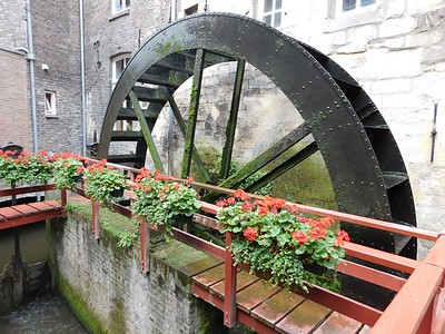A mill paddlewheel in Maastricht