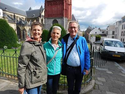 Caroline, Marjan and Arie at Sint Jankerk (Saint John's Church)