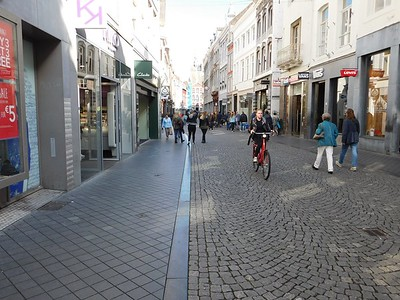 A shopping street in Maastricht
