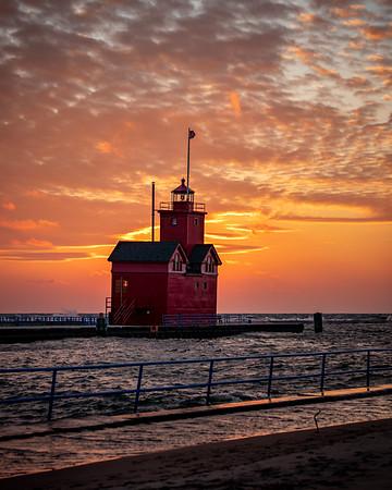 "That ""Big Red"" Glow - Holland, MI"