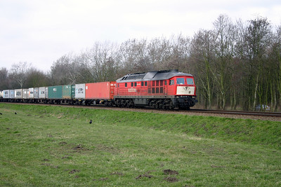 1) 232 908 on former Rotterdam Docks line on 8th March 2004. This section off line has closed and services diverted via new formation due to electrification
