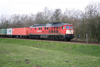 2) 232 908 on former Rotterdam Docks line on 8th March 2004. This section off line has closed and services diverted via new formation due to electrification