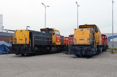 6466 & 6486 at Waalhaven Zuid shunter depot on 29th September 2014