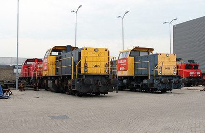 6466 & 6486 at Waalhaven Zuid shunter depot on 29th September 2014 (3)