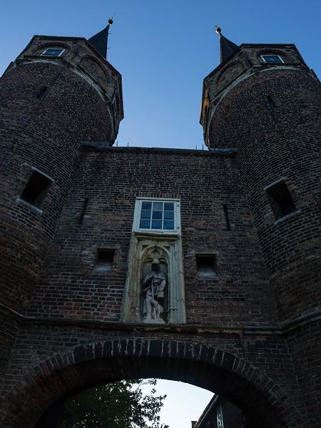 Looking up at Oostpoort Towers