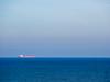 Red Ship on Blue Ocean