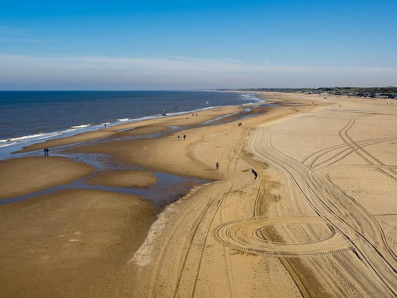 View of Beach from Scheveningen Pier