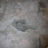 The concrete floor of the garage is original, so instead of pouring a new floor, we patched where necessary.