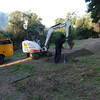 The digging begins.
