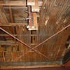 This is the ceiling of the garage.  Notice the original wood lath.  We have some future plans for this element.