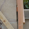 Here is a close-up of the gap, showing how out-of-plumb this wall is.