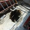 The second floor drain.