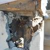 Here is the wood rot and termite damage in the porte cochere of the main entry loggia.