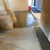 Concrete sub-floor and border have been poured.