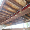 Same steel I-beam, correctly furred out (framed), and now ready for lath and stucco.