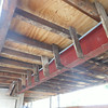 "Another area of the ""thin"" framing that was used to fur out the steel I-beam.  This will all be replaced and reinforced."