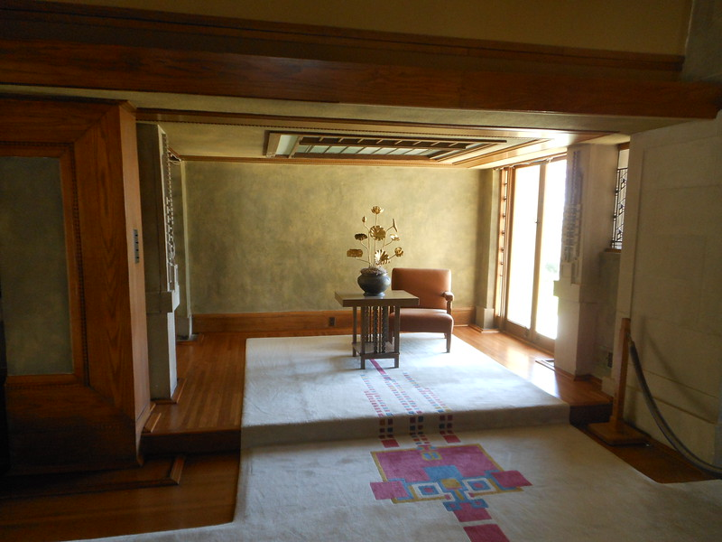 This is the Reading Alcove.  This room was restored back in February 2014, but the carpeting and furniture have just been installed.