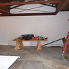The garage after initial clean out, getting ready to start the rehabilitation.  Notice the steel truss work around the ceiling.  This work was part of the Phase I project that took place in 2001 - 2005.  We will do what we can to hide some of this, while at the same time, preserving and/or displaying any historic fabric.