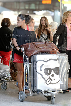 EXCLUSIVE__ Arrival of the cast of the tele reality HOLLYWOOD GIRLS 2 in LAX International airport in Los Angeles on July 27 2012.