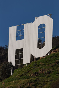 """HO"" The Hollywood sign."