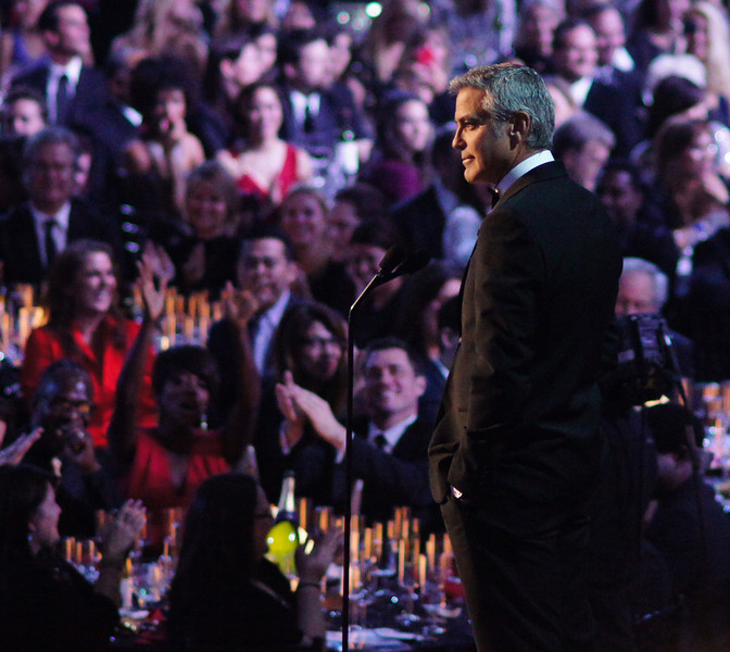 George Clooney shares his thoughts on Sean Penn being honored with the Joel Siegel Humanitarian Award.