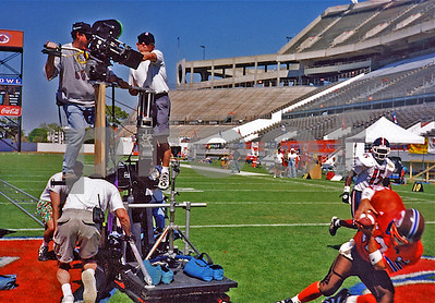 Chuck Cohen, 2nd Unit DP,  shoots from moving dolly, The WaterBoy Movie