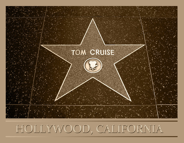 Tom Cruise star on Hollywood walk of fame