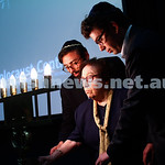 27-1-15. Holocaust Memorial Day. 70th anniversary of the liberation of Auschwitz. Commemoration at the Melbourne Holocaust Museum and Research Centre.  Frieda Schweitzer and her grandsons li ...