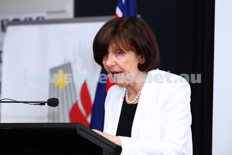 27-1-15. Holocaust Memorial Day. 70th anniversary of the liberation of Auschwitz. Commemoration at the Melbourne Holocaust Museum and Research Centre. Eva Slonim. Photo: Peter Haskin