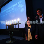 27-1-15. Holocaust Memorial Day. 70th anniversary of the liberation of Auschwitz. Commemoration at the Melbourne Holocaust Museum and Research Centre.  Frieda Schweitzer with her grandsons.  ...