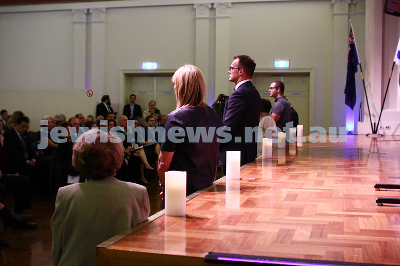 27-1-16. Holocaust Rememberance Day at Glen Eira Town Hall.  Photo: Peter Haskin