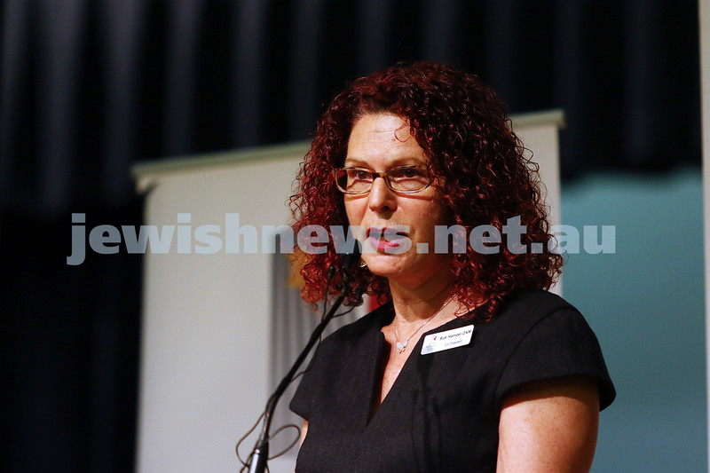 27-1-16. Holocaust Rememberance Day at Glen Eira Town Hall.  Sue Hampel. Photo: Peter Haskin