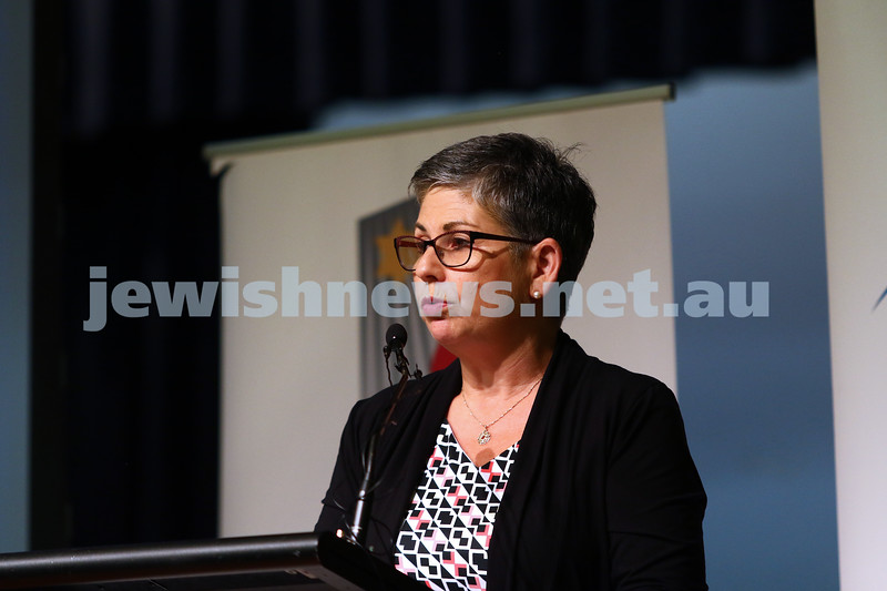27-1-16. Holocaust Rememberance Day at Glen Eira Town Hall. Jennifer Huppert. Photo: Peter Haskin