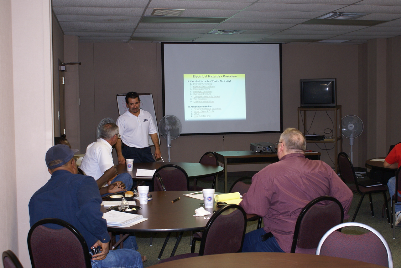 Manny Rodriguez, TAS Concrete is CSHA certified.  Manny instructs the English HCADFW Big Four Training Class at the Holt Cat offices.