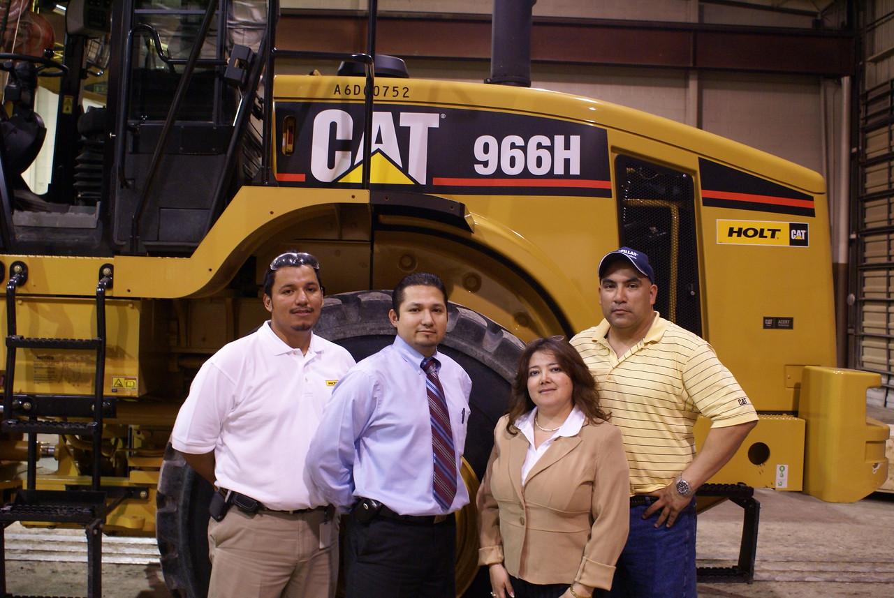 Joseph Carreon, Holt Cat; Sergio Rodriguez, HCADFW; Dr. Martha Quiroz; and Martin Caballero, Holt Cat.