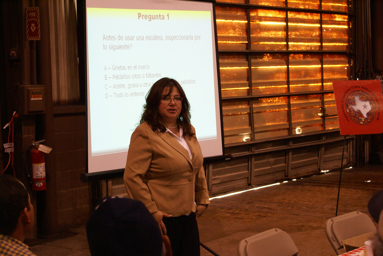 Dr. Martha Quiroz is one of the many construction safety instructors who is trained the OSHA HCADFW Big Four Construction Hazards Training