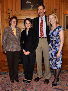 Head of School, Susanna Jones; Margo Klass; Frank Soos; and Breedlove Chair, Marsha Scherbel