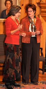 Professor Emerson with Head of School, Ms.Suzanna Jones.