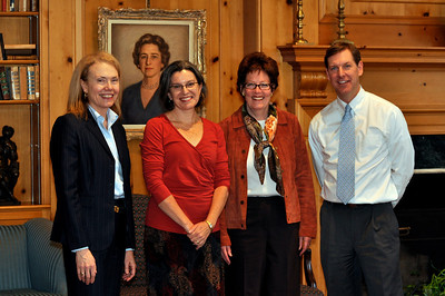 Mrs. Scherbel; Prof. Claudia Emerson; Head of School, Ms. Susanna Jones; and Christopher Wilson.