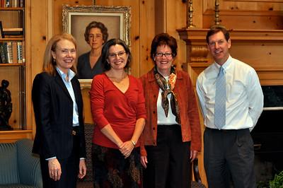 Mrs. Scherbel; Prof. Claudia Emerson; Head of School, Ms. Susanna Jones; and Christopher Wilson.