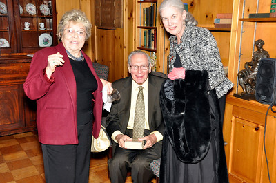 Sallie Alexander, '51, Former Chair of English Department and Trustee Emerita; John (Alex) Alexander, USNA; and Katie McCabe, former Holton-Arms teacher and author
